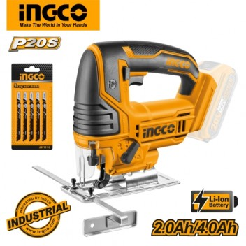 INGCO P20S Tools 20V Lithium-Ion Cordless Jig Saw CJSLI8501 (Body Only)